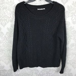 UO Coincidence & Chance Black Flecked Sweater